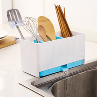 Kitchen Fast Draining Water Chopsticks Cage Spoon Storage Box Storage Rack Cutlery Sponge Holder Dish Multifunction Rack