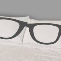 Pillow Cases Set of Two Pillowcases Eyeglasses Decorative Standard Modern Bedding for Kids Teens Adults