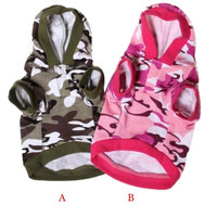 1PC New Dog Clothing Pet Stylish and High Quality Sweatshirt Camo Camouflage Coats Hoodies Costume