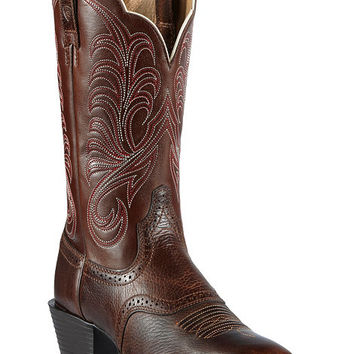 Ariat Mesquite Saddle Vamp Cowgirl Boots - Square Toe - Sheplers