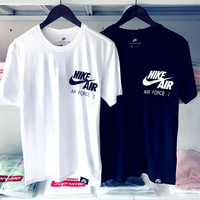 NIKE AIR FORCE 1 print short sleeve top tee shirt H-RELAX-XS