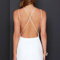 Home At Dawn Ivory Backless Dress