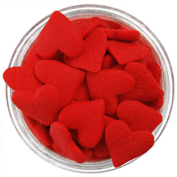 Jumbo Red Heart Sprinkles