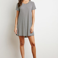 Striped Trapeze T-Shirt Dress