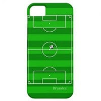 Football Soccer Pitch iPhone  5  Case iPhone 5 Covers from Zazzle.com
