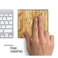 Raw Wood Planks Skin for the Apple Magic Trackpad