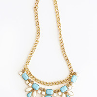 Jenny Blue & White Statement Necklace