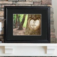 Tree of Love Print with Wood Frame - Family Tree