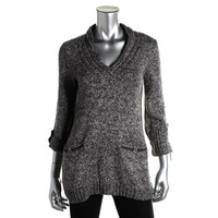 Style & Co. Womens Knit Marled Pullover Sweater