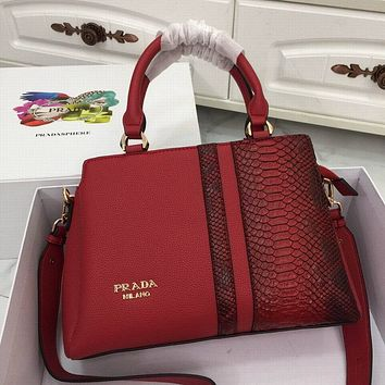 Prada Women's Tote Bag Handbag Shopping Leather Tote Crossbody Satchel