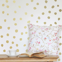 I liked this design on #Fab. Perfectly Imperfect Dots Gold