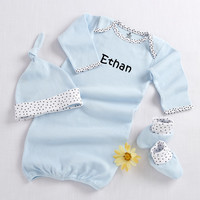 Welcome Home Baby 3-Piece Layette Set ~ Blue