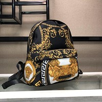 Versace Shoulder Bag Student Bag Lightwight Backpack Womens Mens Bag Travel Bags