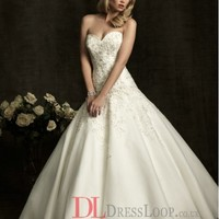 Lace Sweetheart Ball Gown Sleeveless Wedding Dress with Chapel Train AB8910