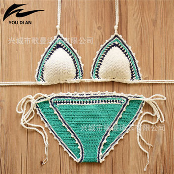 2017 Trending Fashion Knit Bikini Swim Suit Beach Bathing Suits Swimwear _ 13046