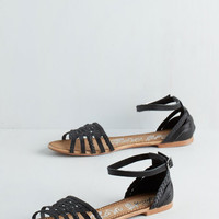 Boho Cape May I Join You? Sandal in Black