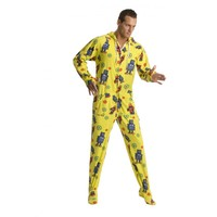 Robots Footed Hooded Adult Onesuit Pajamas