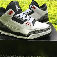 Air Jordan 3 nike logo white black Basketball Shoes 40-47