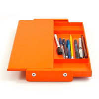 Orange vintage sixties Helit stationary holder by Walter Zeischegg; Jacob Jensen, Braun, Dieter Rams, Ettore Sottsass, Olivetti