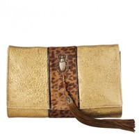 Circle & Square | Limited Edition Gilded Lambskin Clutch