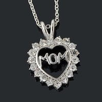 """Crystal """"Mom"""" Necklace"""
