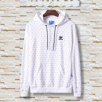 Women Fashion Adidas Hooded Top Sweater Pullover Sweatshirt