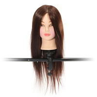 18 Inch 50% Real Human Hair Wigs Hairdressing Training Head Practice Model With Clamp