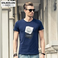 short sleeve print t shirt men cotton clothing male base fit black fashion casual men t shirts for men
