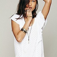 We The Free   Spot Ruffle Tee at Free People Clothing Boutique