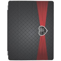 Elegant Black and Red Pattern iPad Cover