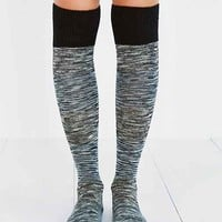 Cozy Marled Knee-High Sock- Black Multi One