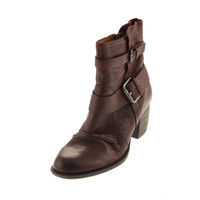 Naya Womens Virtue Leather Riding Ankle Boots