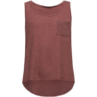 Full Tilt Essential Girls Hachi Pocket Tank Burgundy  In Sizes