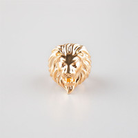 The Gold Gods Lion Head Ring Gold  In Sizes