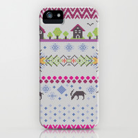 Winter Knitting iPhone & iPod Case by Ornaart