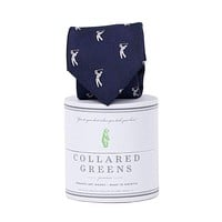 Bethpage Tie in Navy and White by Collared Greens