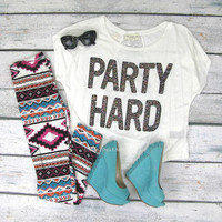 Party Hard & Sparkle - Lace Back Party Top