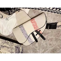 DIOR casual ladies striped printed one-shoulder bag shopping bag