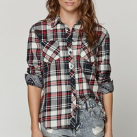 Young & Reckless Free Base Plaid Shirt - Womens Shirts - Red
