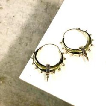 *Pre Sale* Neha Brass Earrings