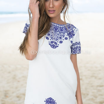 Porcelain Princess Shift Dress