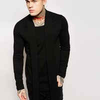 ASOS Longline Long Sleeve T-Shirt With Scoop Neck And Scarf