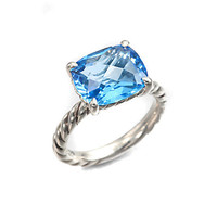 Blue Topaz & Sterling Silver Ring