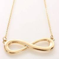 Small gold infinity necklace, infinity jewellery, gold jewellery, fashion necklace