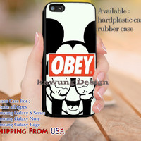 Obey Mickey Mouse Quote iPhone 6s 6 6s+ 5c 5s Cases Samsung Galaxy s5 s6 Edge+ NOTE 5 4 3 #cartoon #animated #disney #MickeyMouse dl10