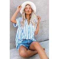 Brea Striped Button-Up