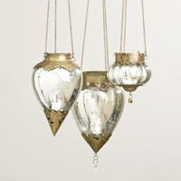 Hanging Mercury Glass Lantern