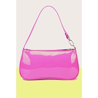 Drama Queen Patent Mini Baguette Bag