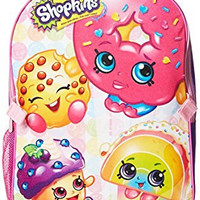 Shopkins Little Girls Backpack with Lunch, Pink, One Size