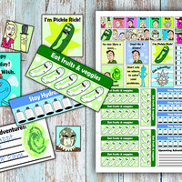Printable Planner Stickers - Rick and Morty